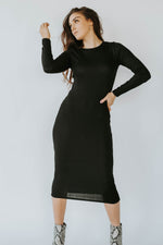 Melinda Ribbed Dress (Black)