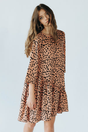 Areila Dress in Salmon