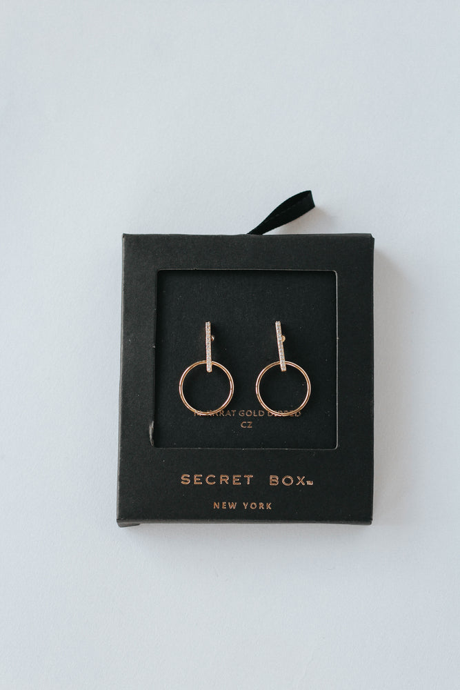 Bar Ring Drop Earrings