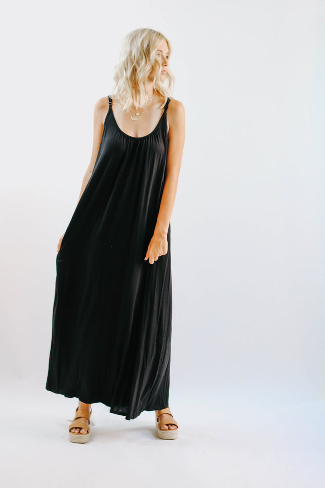 Walker Black Day Dress