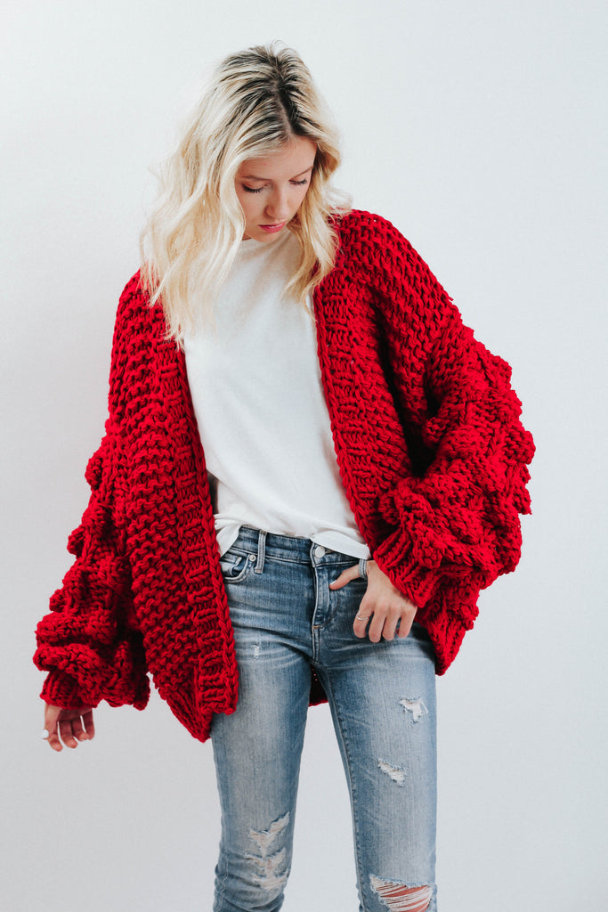 Bubble Sweater- Red
