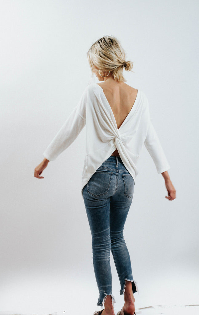 WP Low Back Knot Top (Ivory)
