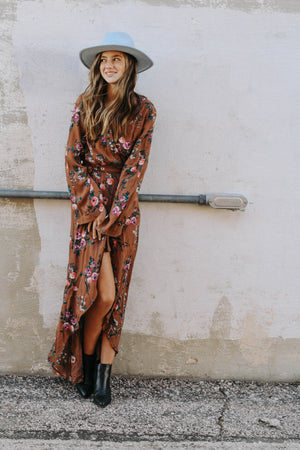 Fall Flowers Maxi Dress