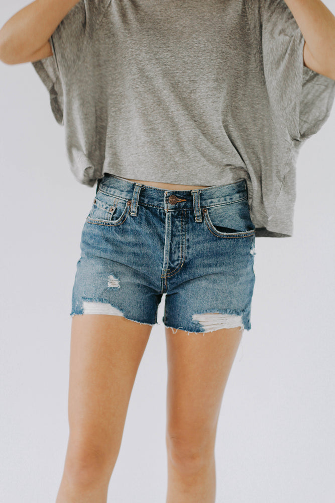Free People: Sofia Denim Short (Dark Wash)