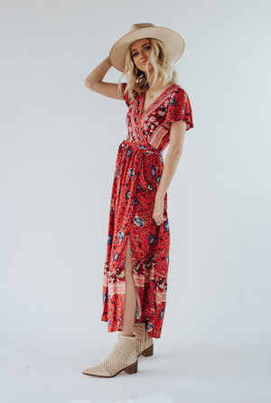 Avalon Dress in Red
