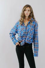 Blue Multi Flannel