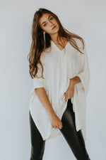 Cyber Monday: White V Neck Pullover