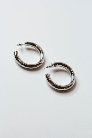 Classic Tube Earring (Silver)