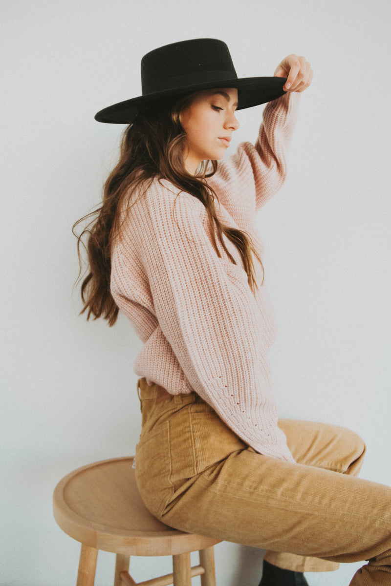 Cozy Cool Mock Neck in Mauve