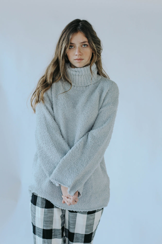 Love Dove Sweater (Grey/Blue)