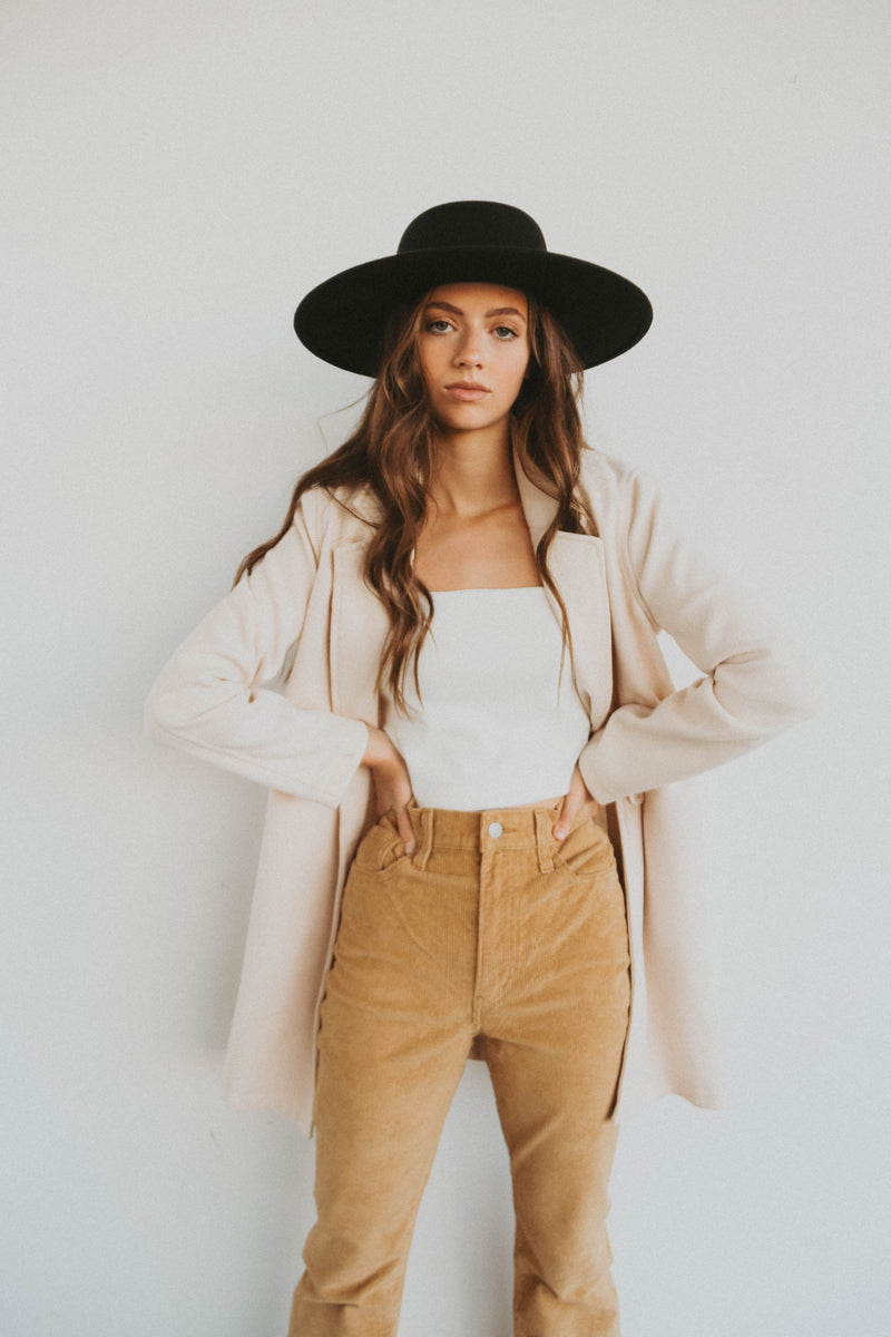 Hailey Blazer Coat in Cream