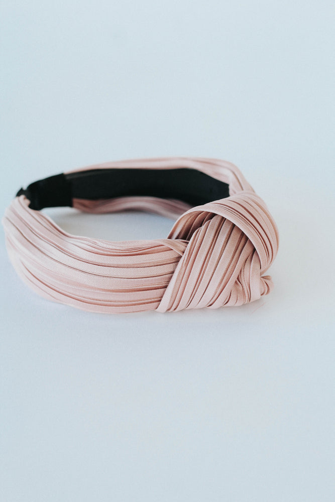 Ribbed Turban Headbands (Mauve)