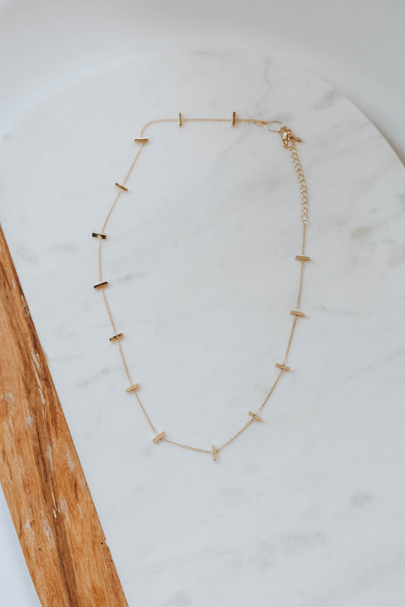 Dainty Multi Bar Necklace