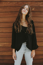 Essential Black Button Down