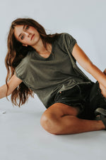 Free People: You Rock Tee in Moss