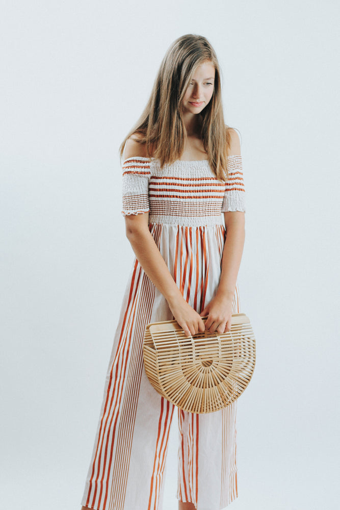 Dawn To Dusk Rust Stripe Jumper