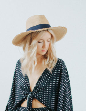 Summerland Straw Hat (Navy)