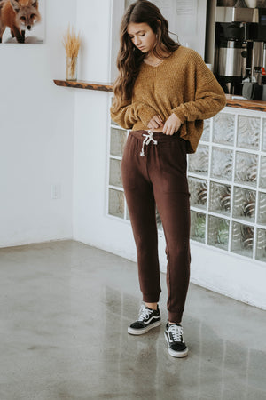 Black Friday 19: Elastic Burgundy Joggers