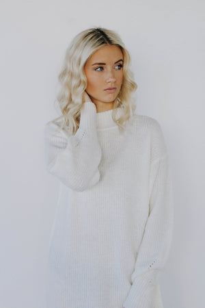 Black Friday Amber Sweater Dress (Ivory)