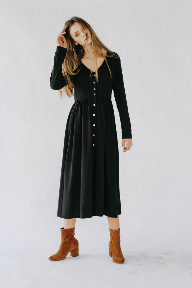 Robbie Black Button Down Dress