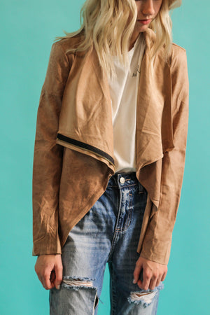 Get Real Suede Jacket (Camel)