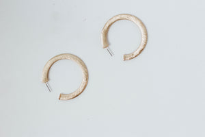 Thick Flat Metal Hoop (Gold)