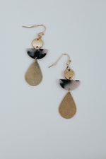 Tortoise Acrylic Tear Drop Earrings