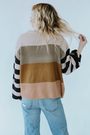 Twiggy Color Block Sweater