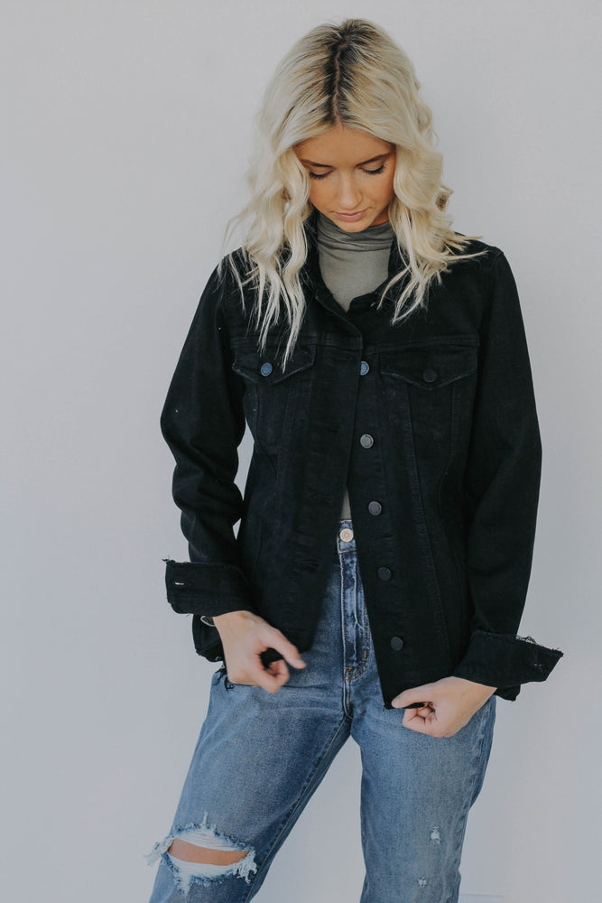 Black Friday Parson's Distressed Denim Jacket