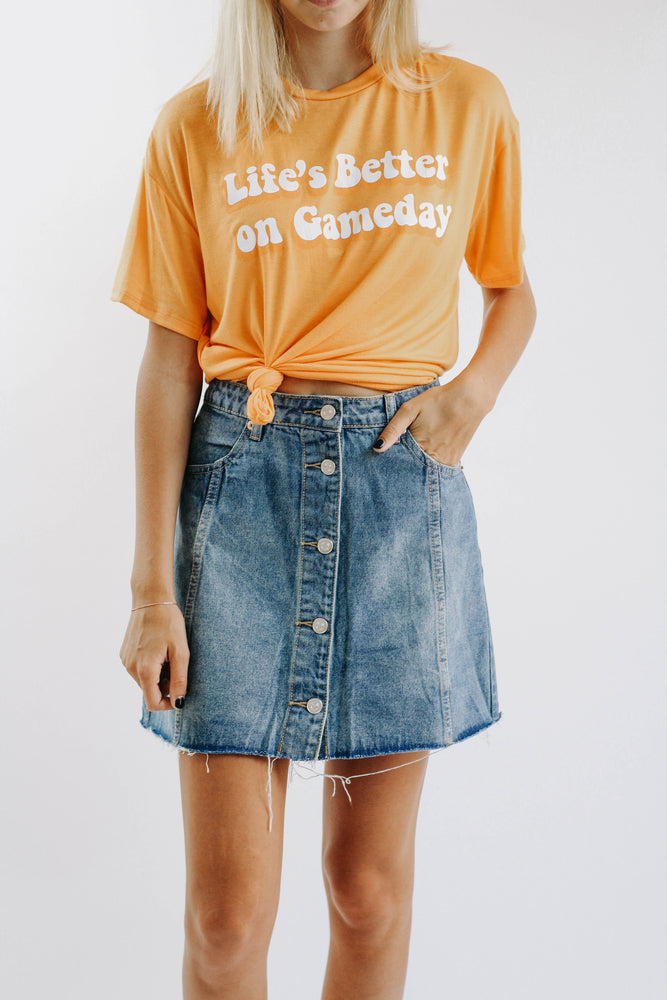 Shawna Jean Button Down Skirt
