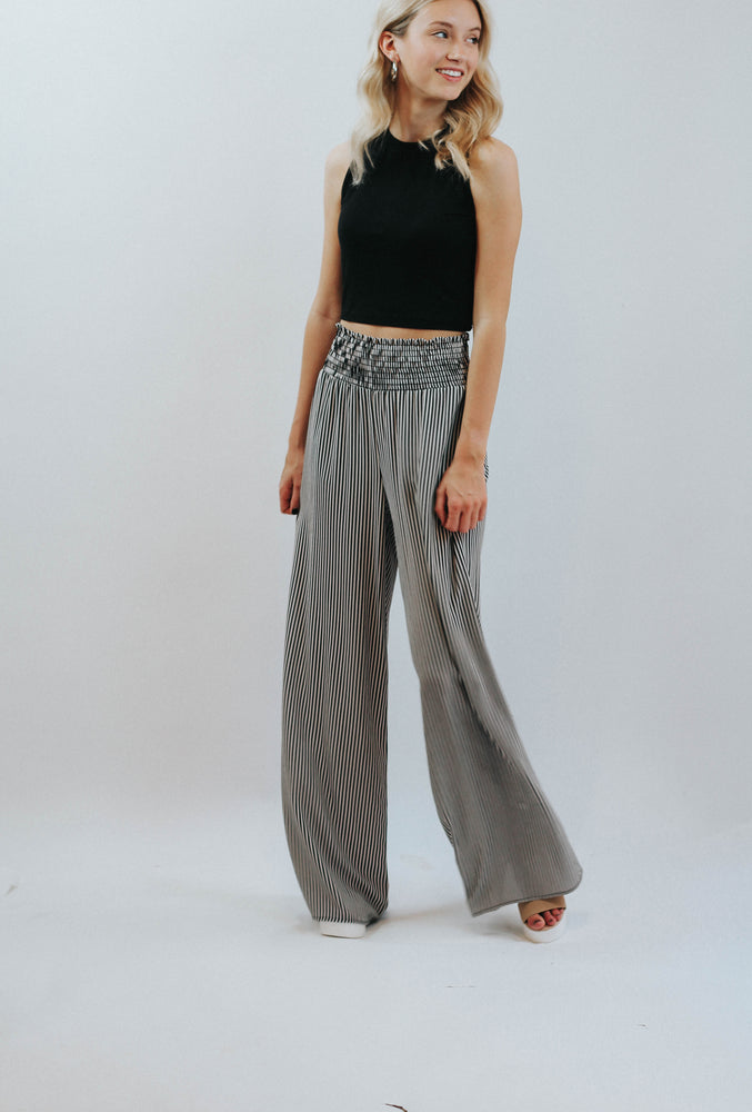 Stripe High Rise Pants