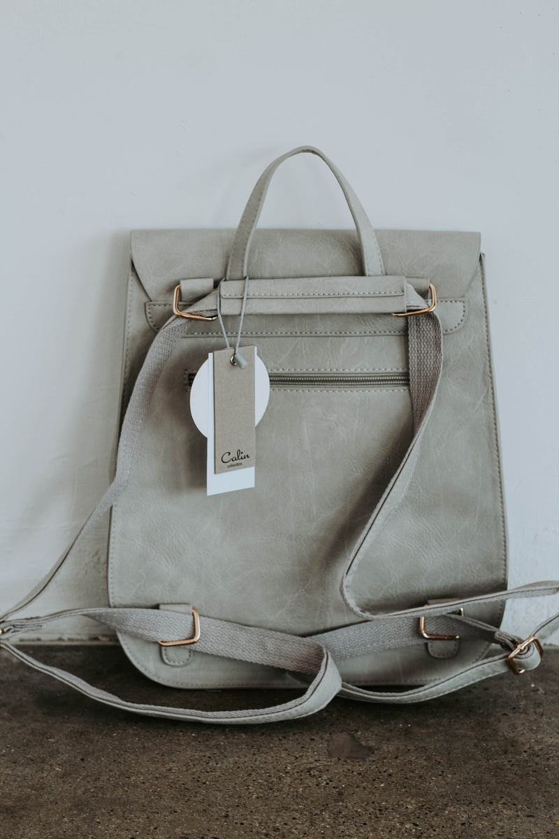 Bianca Convertible Back Pack (Light Grey)