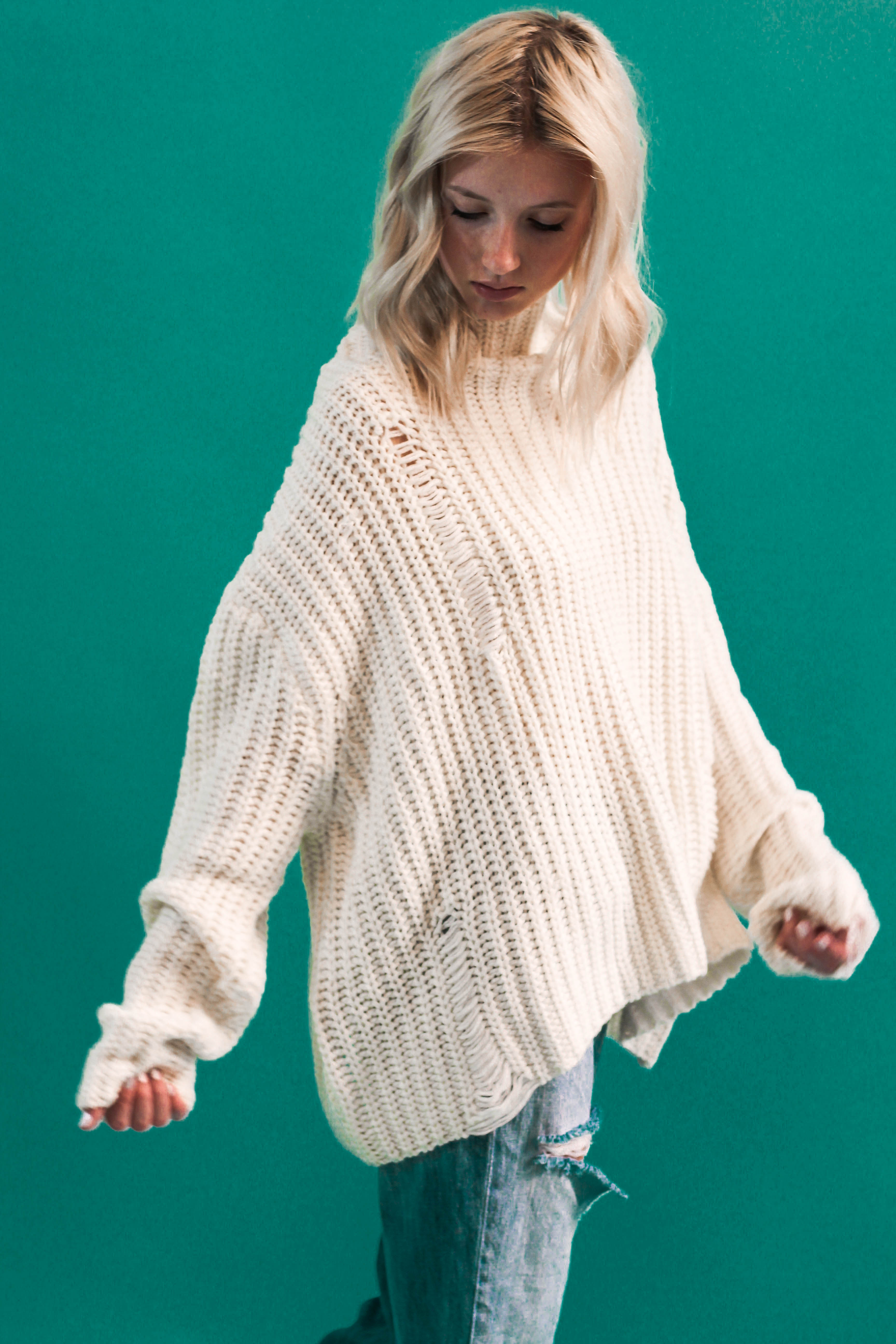 Remi Mock Neck Sweater