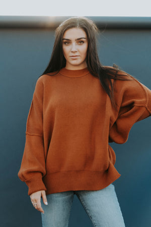 Free People: Easy Street Sweater (Tuscan Earth)
