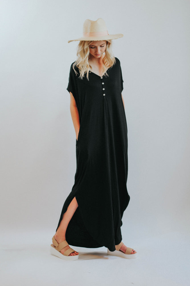 MO Cherish Button Down Maxi