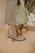 Dodge Platform Lace Up Bootie