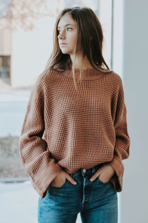 First Day of Fall Sweater (Ash Rose)