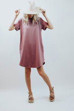 MO Mauve Cherish TShirt Dress