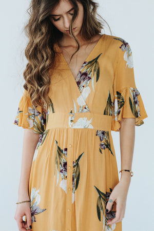 Runaway Mustard Dress