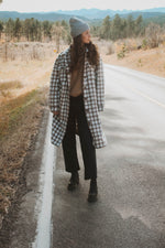 Ari Long Plaid Shacket