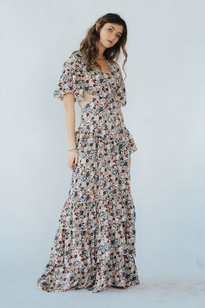 Hawaii Tiered Floral Dress
