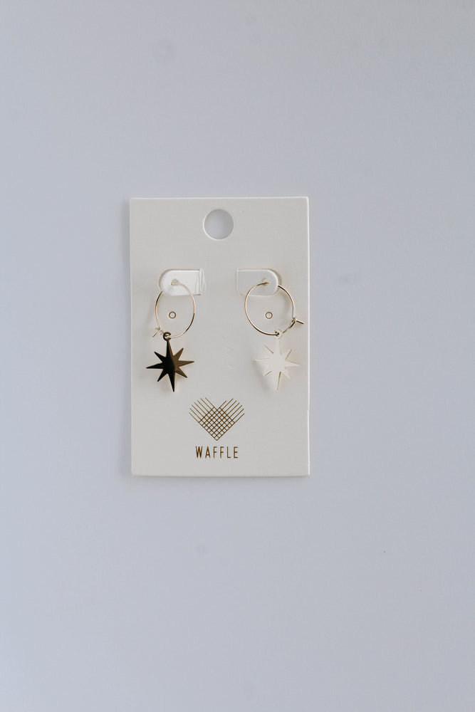 Mini Star Charm Small Hoop