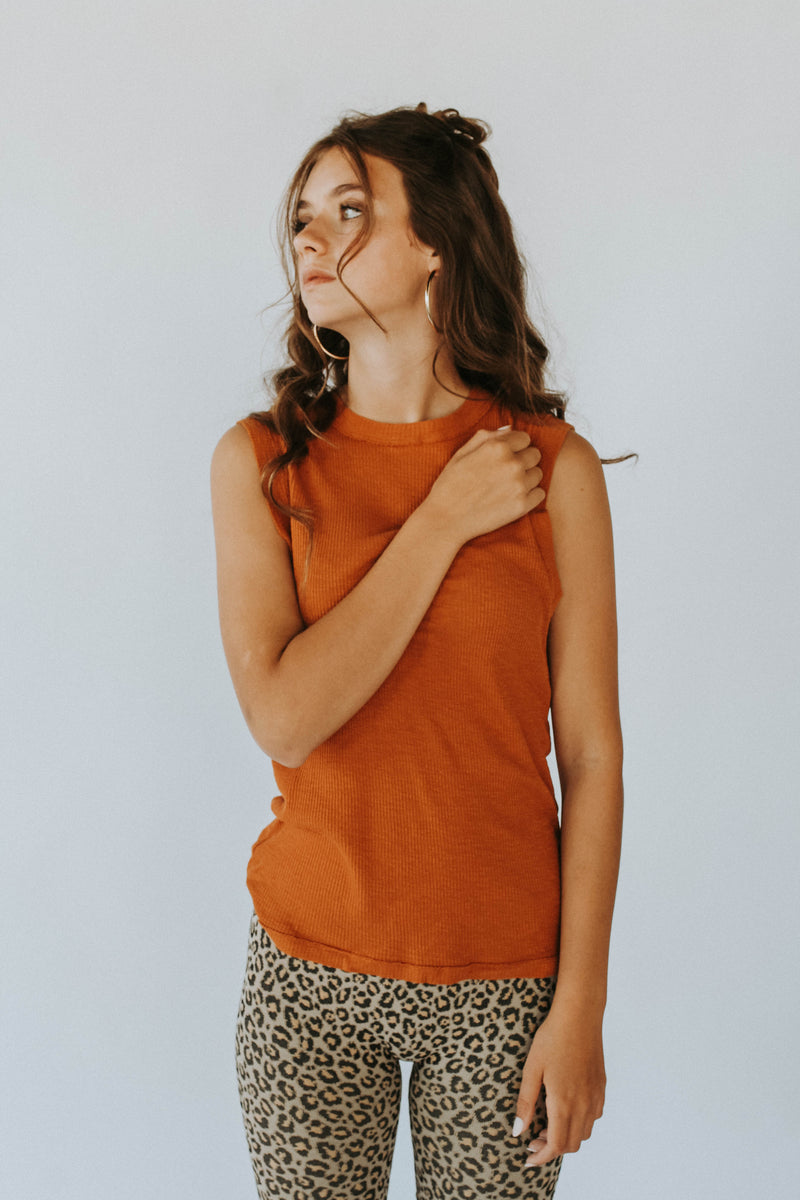 Free People Georgie Tank in Cinnamon