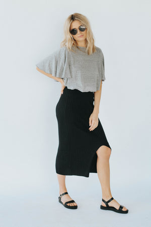 Dreamers High Waisted Ribbed Midi
