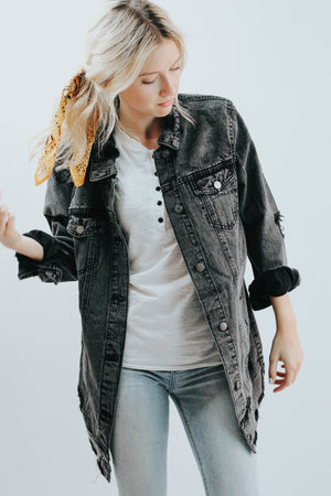 Better In Black Denim Jacket