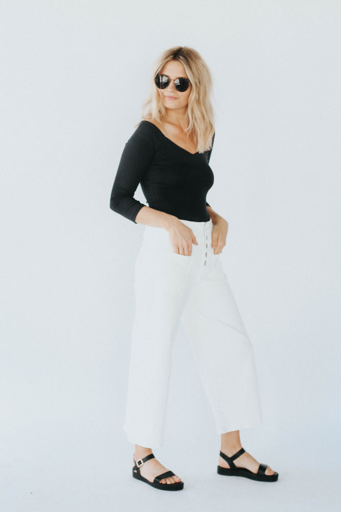 Free People: Bardot Bodysuit
