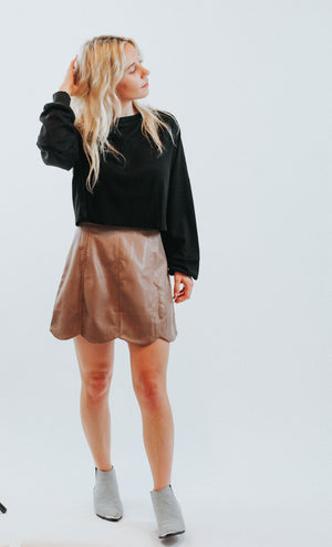 Make Me Yours Vegan Leather Skirt