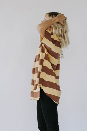 Just My Stripe Top (Mustard)