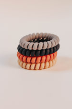 Telephone Hair Ties Assorted 4 Piece Set