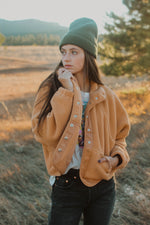 Free People: Hit the Slopes Fleece In Terracotta